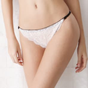 Comfort Soft Floral Lace Panty - White