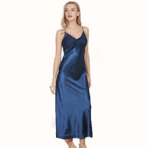 Silky Satin Strappy Cami Nightdress - Navy